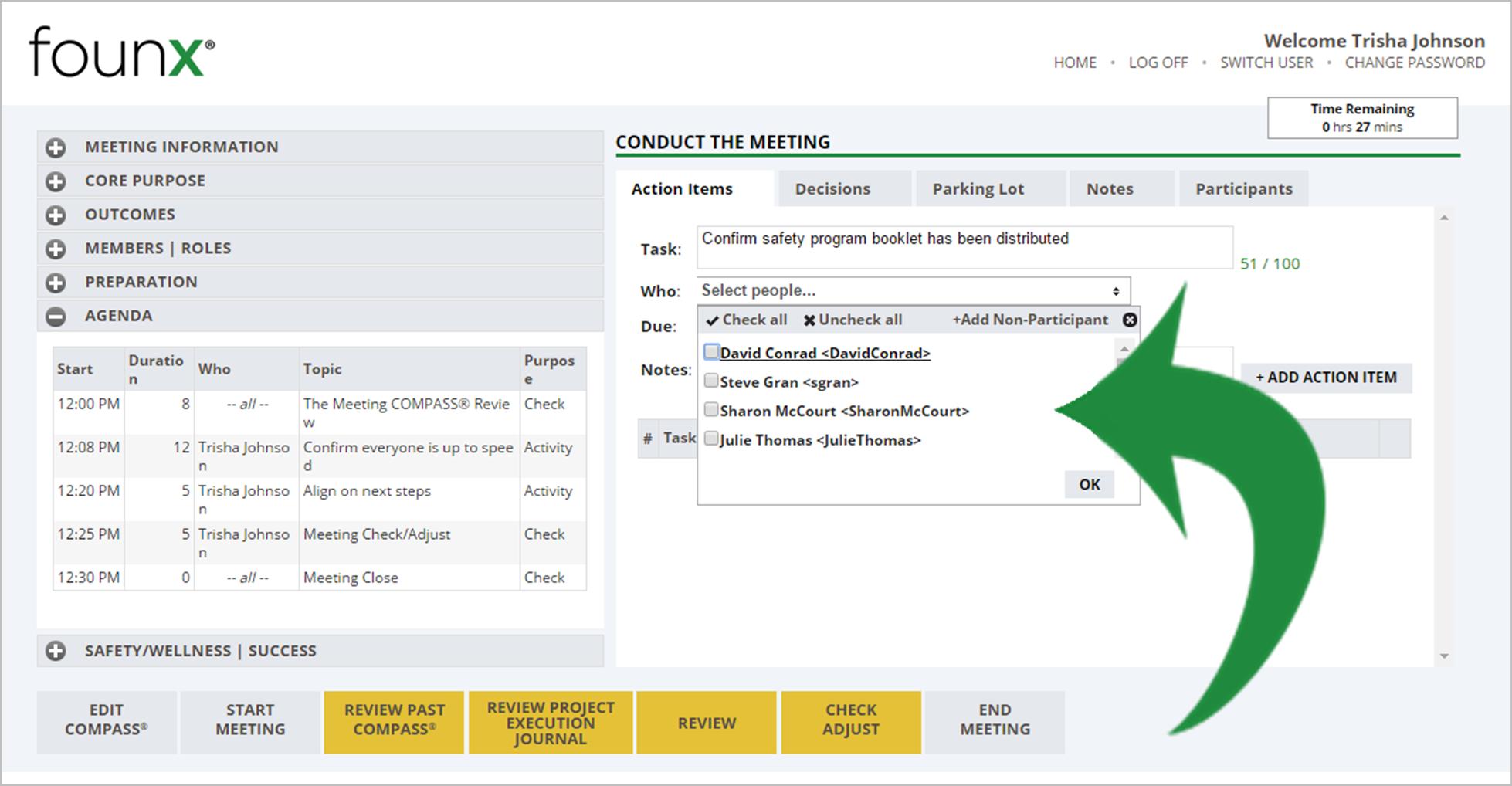 assign tasks best meeting planning software